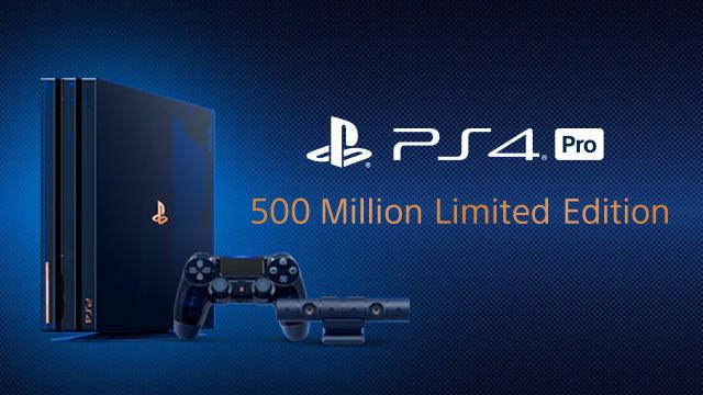 全世界5万代限定『PlayStation 4 Pro 500 Million Limited Edition』発売決定!!